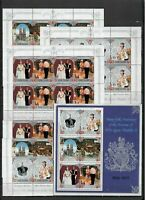 s31921) BR. COMMONWEALTH SILVER JUBILEE 1977 MNH** cpl sets+s/s (as per 2 scans)