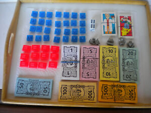 Used Pokemon Monopoly Replacement Pieces 1999 Nintendo/5 metal game tokens