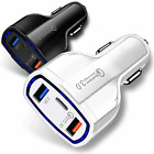 3-Port USB Fast Rapid Car Charger Adapter Type C Port for Android Samsung Galaxy