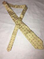 Ermenegildo Zegna Mens Tie Yellow Multi Color Leaf Silk Necktie Office 🍃 👔