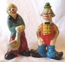Vintage Ceramic Clown Figures - Rare African American Clown Saxophone Musician