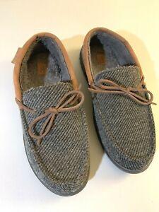 USED Dearfoams Men's Memory Foam Indoor/Outdoor Slippers House Shoes