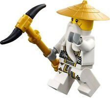 Lego Ninjago Sensei Wu Minifigure w/ Weapon from 70734 Master Wu Dragon 70738