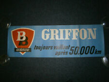 Ancienne affiche BB CENTRI GRIFFON 39 cm / 118 cm