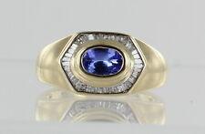 10K Yellow Gold Tanzanite and Diamond Dress Ring REF2155