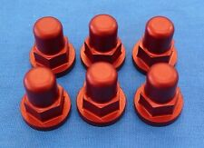 HONDA TRX 250R TRX250R BDT ENGINE CYLINDER HEAD BILLET ACORN NUTS RED 6PK NEW