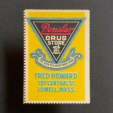 Poster Stamp * USA * 1915 Penslar Drug Store Lowell Massachusetts
