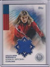 RARE 2014 TOPPS OLYMPIC ERIKA BROWN SILVER RELIC CARD ~ 27/50  ~ CURLING