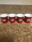 Ole Smoky Tennessee Moonshine Small Red Shot Cup Shot Glasses Set of 4