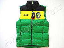 New Ralph Lauren Polo SPORT Green & Yellow Brazil Poly Puffer Down Vest sz L