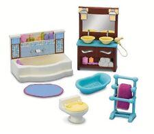 Loving Family Bathroom Fisher Price Dollhouse Sink Furniture Toilet Tub Bath Tub