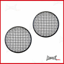 Pair 7 INCH Matte Black Mesh Headlight Covers / Car Bus Truck Ute Hotrod Buggy