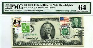 $2 DOLLARS 1976 FIRST DAY STAMP CANCEL THE PRESIDENTS OF THE USA VALUE $3000