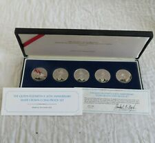 More details for 1983 qeii 30th anniversary silver proof 5 coin set - boxed/coa