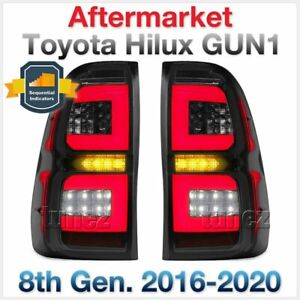 Smoke LED Tail Rear Lamp Sequential Light For Toyota Hilux 2015 2016 2017 Tunez
