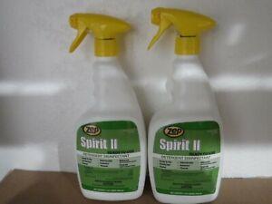 (LOT OF 2) Zep Spirit II Germicidal Virus Hospital Grade Disinfectant 2 Quarts