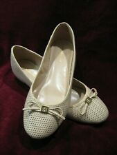 0caf896d Tommy Hilfiger Women's Mirella Perforated Ballet Flat Beige Tan 9.5 M Shoes  Excl