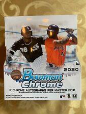 2020 BOWMAN CHROME BASEBALL HOBBY BOX (12 PACKS)