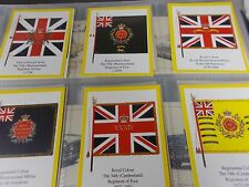 1st Series of 6 INFANTRY REGIMENTAL COLOURS THE BORDER REGIMENT Trade Cards