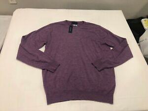 NWT $348.00 Peter Millar Collection Mens Excursionist Flex Sweater Purple MEDIUM