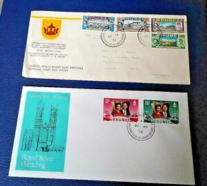 Brunei 1972 Two Royal Themed First Day Covers