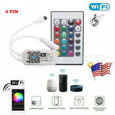 WiFi Smart RGB LED Strip Light phone Controller w/ Remote For Google Alexa Home