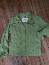 Eddie Bauer Small Woman's Jacket Coat Apple Green Zip Cotton 4 Pockets