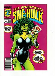Sensational She-Hulk #1 (1989) vf cond / Newsstand/ SIGNED BY JOHN BYRNE / sh3