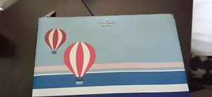 "Kate Spade ""UP UP & AWAY"" Hot Air Balloon Large Pouch-NEW WITH TAGS"