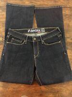 Levi's Denizen Modern Boot Cut Dark Wash Blue Jeans Size 10S Short