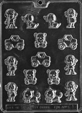 K001 Kids Assortment Chocolate Candy Soap Mold with Instructions