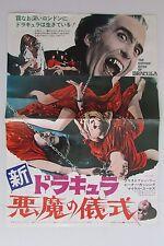 COUNT DRACULA AND HIS VAMPIRE BRIDE - original Japan movie   vintage Press sheet