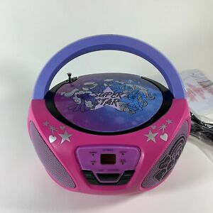 My Little Pony Super Star Portable CD Player /  Radio Boombox * New/Out of Box