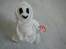 FRIENDLY HALLOWEEN GHOST  - TY BEANIE BABY - SHEETS  - OCTOBER 31 BIRTHDAY