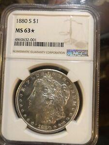 1880-S $1 Morgan Silver Dollar MS63_STAR