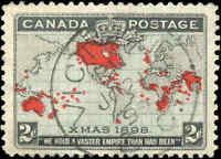 1898 Used Canada F-VF Scott #86 2c Imperial Penny Stamp