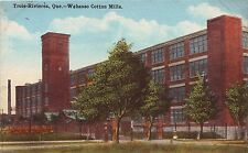 Canada Trois-Rivieres Three Rivers Wabasso Cotton Mills Constructivism postcard