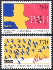 Andorra 1995 Europa/Peace/Doves/Birds/Animation 2v set (n27663)