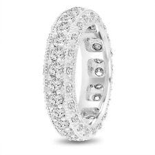 Mens Eternity Diamond Wedding Band Mens Wedding Ring 2.50 Ct 6 mm 14K White Gold