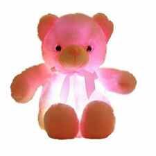 elfishgo Creative Light Up LED Inductive Teddy Bear Stuffed Animals Plush Toy Co