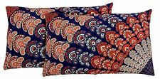 2 PC Indian Blue Mandala Reversible Cushion Cover Cotton Ethnic Pillow Boho Sham