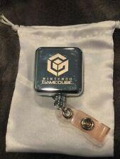 Nintendo Gamecube Clip Retractable Reel Lanyard Badge Holder Rare  NFR NEW!