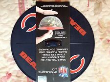"NEW Chicago Bears 9"" Silicone Lid NFL Football -seals tight on smooth containers"