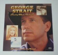 George Strait Country Music Festival Womack LP Record Photo Flat 12x12 Poster