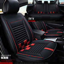 Car Front+ Rear Seat Covers  Streamline Luxury Breathable all seasons Black red