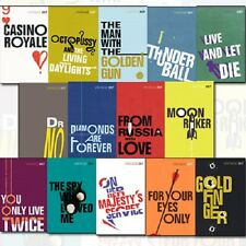 Vintage 007 James Bond 14 Books Collection Set By Ian Fleming