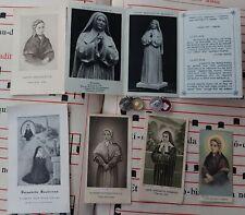 500) Lot of 6 holy card  + 2 relic medal St Bernadette Soubirous