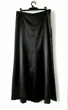 Joi sz 12 Elegant Black Stretch Satin Maxi Skirt