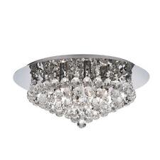 Searchlight 3406-6CC Hanna Chrome 6 Light Semi-Flush Clear Crystal Balls