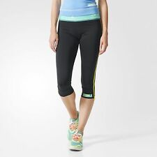 New ADIDAS Women's STELLASPORT 3/4 Tight Running Fitness Training Pants AI5599 S